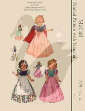 Repro Vintage Shirley Temple Snow White Doll Clothes Sewing Pattern McCall 579