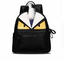 Women Men's Backpack Monster Synthetic Leather Unisex Casual Bag