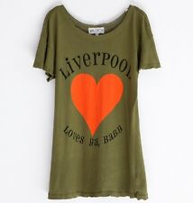 WILDFOX COUTURE LIVERPOOL LOVES YA BABY HEART WARPAINT TEE TOP M 12 8 40!