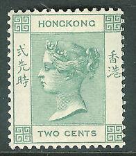 Hong Kong 1900 dull-green 2c mint SG56