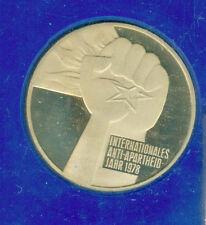 5 Mark DDR Gedenkmünze 1978 Silbermünze UNO-Jahr der Antiapartheit, in PP, ovp.