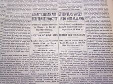 1935 OCTOBER 17 NEW YORK TIMES - ETHIOAPIANS SWEEP INTO SOMALILAND - NT 4916