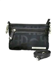 Harley-Davidson® Women's Jacquard Hip Purse Bag w/ Leather Strap HD3492J-BLACK