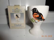 1989 Annual Egg Cup Goebel 12th Edition Egg Stand Holder NIB ~ Baltimore Oriole