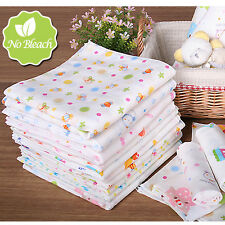 baby adorable motive print cotton Handkerchief 5sheets set as a bib