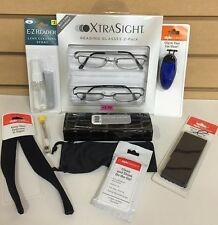Foster Grant 2 Pack Xtra Sight +2.50 Jacob Reading Glasses Accessories Set New