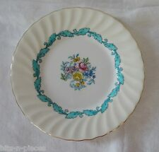 MINTON bone china ARDMORE #5363 Side Tea Plate white &  turquoise gold rim