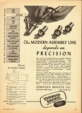 1947  Vintage ad for Johnson Bronze Sleeve Bearing/Precision (042113)