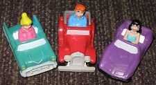 1991 Archies Burger King Kid's Meal Toy Lot of 3 Pull-Backs - Veronica Betty