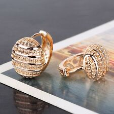 Cute design lady 18K Gold Platinum filled hot sale Huggie earring