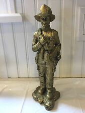 Cool Vintage Collectable FD Firemen Firefighter In Bunker Gear Figurine Statue