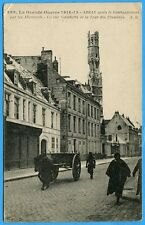 CPA: Arras - La rue Gambetta et la tour des Ursulines / Guerre 14-18