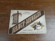 CATALOGUE PUBLICITAIRE vers 1935 NANCY MEUBLES 8/10 AVENUE FOCH NANCY ART DECO
