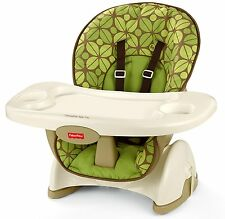 Fisher-Price BCK62 SpaceSaver High Chair, BABY HIGH CHAIR, Rainforest Friends