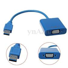 USB 3.0 to VGA Multi-Display Video Graphic External Cable Adapter Card for Win10
