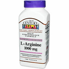 21st Century L-Arginine 1000mg Maximum Strength Male Performance 100 tablets