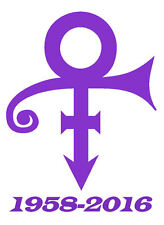 Prince Symbol Memorial 1958-2016 Vinyl Car / Laptop Sticker - Be yourself RIP :(
