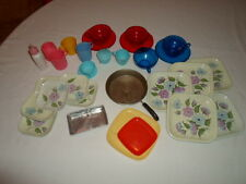 Vintage Children's Play Set Dishes, Cups, DOLL-E TOYS , NORSTAR , MINEFEED