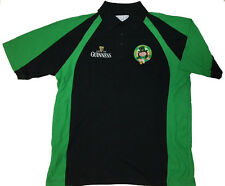 Guinness Drunken Leprechaun Rugby Polo-Black with embrodiery--XL--FREE SHIPPING