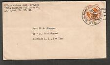 c WWII cover M/Sgt Johnnie Gill 579 Engineer Util Co APO 742-A Templehof Berlin