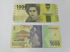 Indonesia 1000 Rupiah 2016 New Note UNC (10 NOTES)