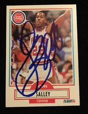 JOHN SALLEY 1990 FLEER Autographed Signed BASKETBALL Card 60 PISTONS