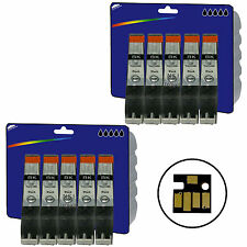 10 Black Compatible Printer Ink Cartridges for Canon Pixma MG6250 [CLI-526]