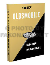 1957 Oldsmobile Repair Shop Manual 57 Olds 88 98 Golden Rocket Super Starfire