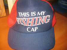 THIS IS MY FISHING CAP TRUCKER STYLE ADULT MENS RED BALL CAP HAT NEVER WORN NEW