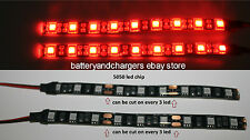 2 Red 5050 chip 24 inch long   36 LED Waterproof Flexible Strip BLACK PCB board