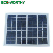 5W 12V Poly Solar Panels 5Watt PV Solar Power Module Home Boat Car Free Shipping