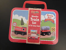 Circular Wooden Train Set in Travel Case! Fits Brio and Thomas sets. Lovely gift