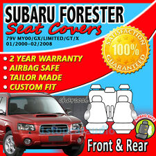 GREY CUSTOM FIT SEAT COVERS for SUBARU FORESTER 01/2000-02/2008 AIRBAG SAFE!