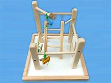 Bird Play Gym For Parrotlets, Budgies, Love Birds, With Ladd,Swing,Toys & base
