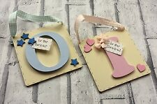 Personalised letter/name plaque for birthday/new baby or Christening gift