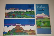 Vintage 1970's Canada Eastern & Western Highway Road Maps