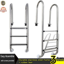 Swimming Pool Ladder In-Pool Ladder Stainless Steel Ladder 3 Steps Strong New