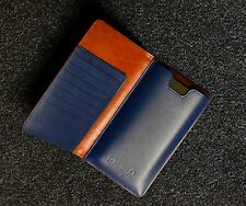 Danny P Leather Wallet iPhone 6 Plus Case in Brown Blue