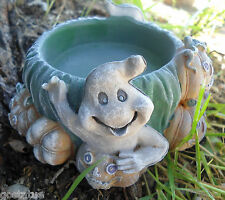 """Latex pumpkin / ghost candle holder mold  plaster concrete  4.25""""W x 2""""H"""