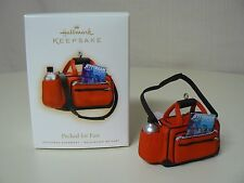 Hallmark Ornament 2009 PACKED FOR FUN NEW Duffle Bag Travel Boarding Pass Water