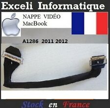 "Screen led nappe Cable vidéo OriginL Apple MacBook PRO 15"" écran A1286 2011 2012"