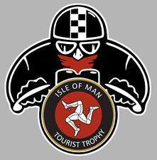 CAFE RACER MOTO TT ISLE OF MAN BIKER 80mmX75mm AUTOCOLLANT/STICKER MOTO MA097