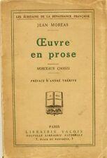 Oeuvre en Prose - Jean Moréas - Morceaux Choisis - Exemplaire numéroté - 1927