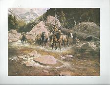 "Frank McCarthy,   ""Water Leaves No Trail"" Cowboy,Pack Horses Western Art Print"