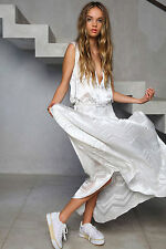 Shakuhachi Designer Maxi Dress Burn Out Ice White NEW NWT Size 8 / S RRP $290