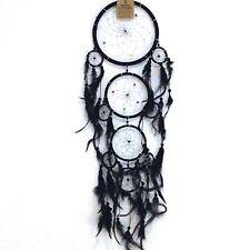 Nouveau grand noir en plumes dream catcher native american wall hanging mobile