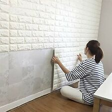 1X0.5' Self Adhesive Brick 3D Tile Wallpaper Panel For Home Office Decor White