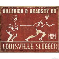 Vintage Replica Tin Metal Sign Louisville Slugger Ky USA baseball ball bat 1865