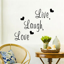 Lettering Saying Live Laugh Love Quote Removable Home Vinyl Wall Sticker