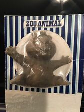 NEAR MINT ON CARD! 1970's Crest Toothpaste Zoo Animal Finger Puppet BEAR Premium